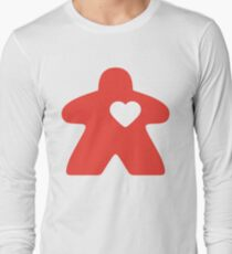 Meeple Love - red Long Sleeve T-Shirt