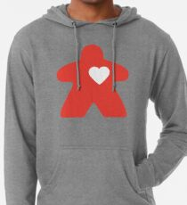 Meeple Love - red Lightweight Hoodie