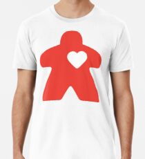 Meeple Love - red Premium T-Shirt
