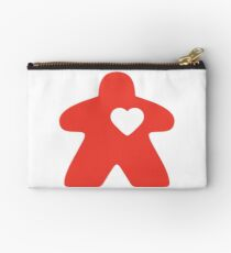 Meeple Love - red Zipper Pouch