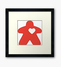 Meeple Love - red Framed Print