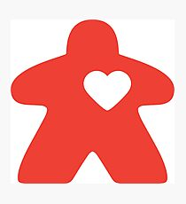 Meeple Love - red Photographic Print