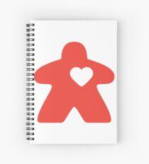 Meeple Love - red Spiral Notebook