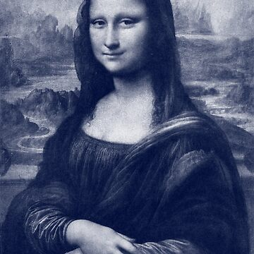 Blue Mona Lisa  by historicimage