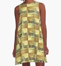 Wonka's Golden Ticket A-Line Dress