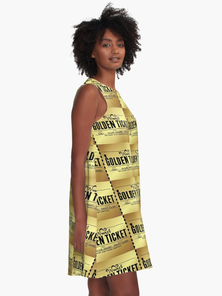 Alternate view of Wonka's Golden Ticket A-Line Dress