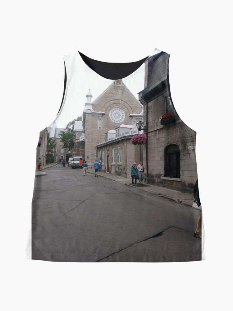 Alternate view of Quebec City, #QuebecCity, #Quebec, #City, #Canada, #buildings, #streets, #places, #views, #nature, #people, #tourists Sleeveless Top