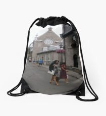 Quebec City, #QuebecCity, #Quebec, #City, #Canada, #buildings, #streets, #places, #views, #nature, #people, #tourists, #pedestrians Drawstring Bag