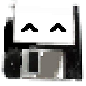 Degraded floppy smiley by findingNull
