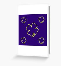 Purple irish leaf repeat pattern design best for gift idea Greeting Card