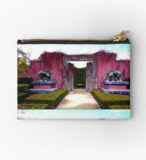 Red Wall Of Elephants Duo Studio Pouch
