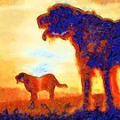 Italian Spinone Silhouettes by heidiannemorris