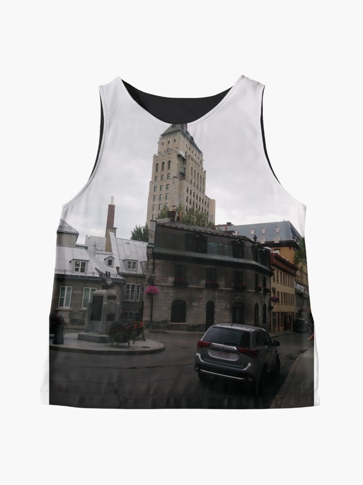 Alternate view of Quebec City, #QuebecCity, #Quebec, #City, #Canada, #buildings, #streets, #places, #views, #nature, #people, #tourists, #pedestrians Sleeveless Top