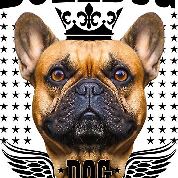 French Bulldog like a King Crown Wings by Margarita-Art