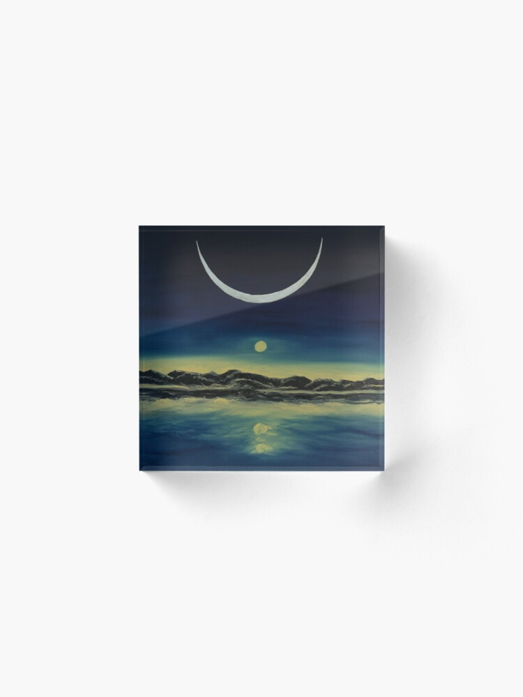 Alternate view of Supernatural Eclipse Acrylic Block