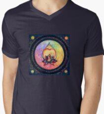 """The Drop of Golden Rain"" - Mandala of Wealth Men's V-Neck T-Shirt"