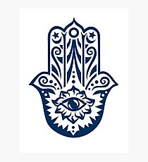 Hamsa - Hand of Fatima, protection amulet, symbol of strength and happiness Photographic Print