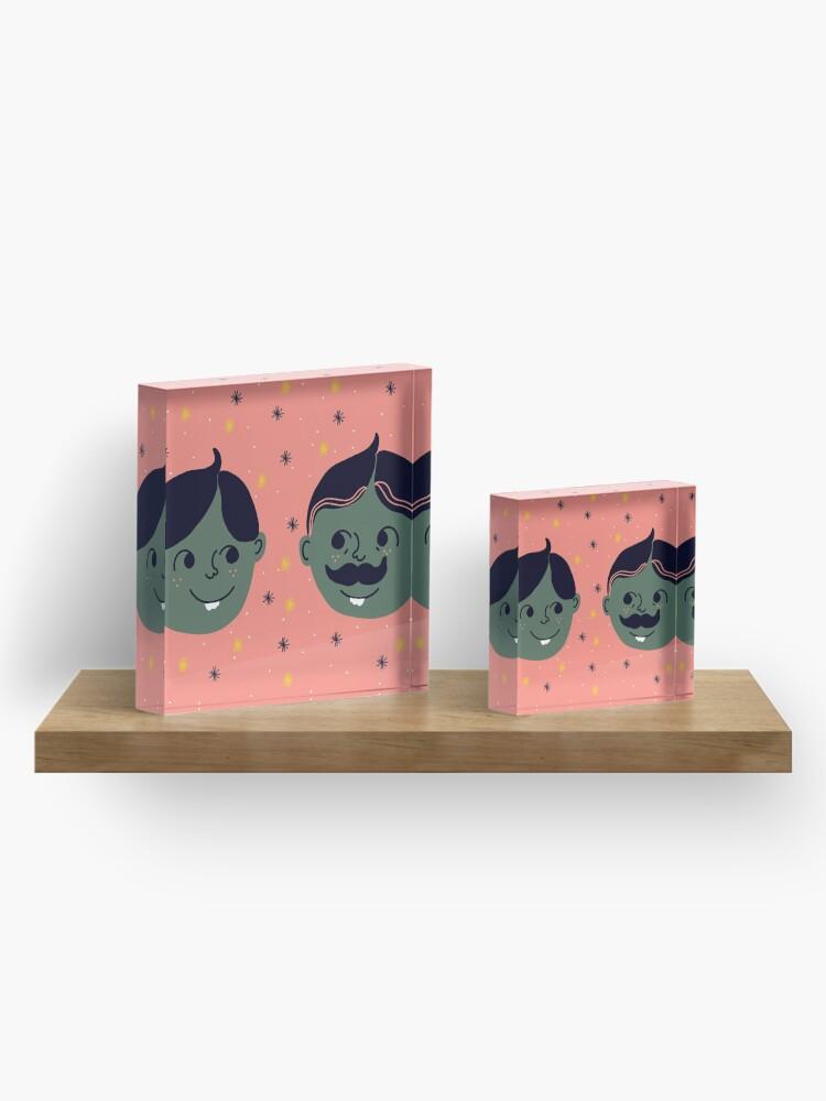 Alternate view of Twins Acrylic Block
