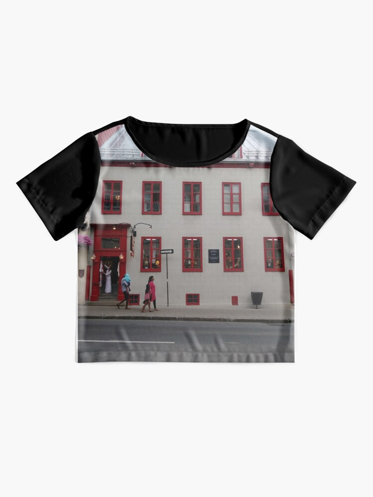 Alternate view of Quebec City, #QuebecCity, #Quebec, #City, #Canada, #buildings, #streets, #places, #views, #nature, #people, #tourists, #pedestrians Chiffon Top
