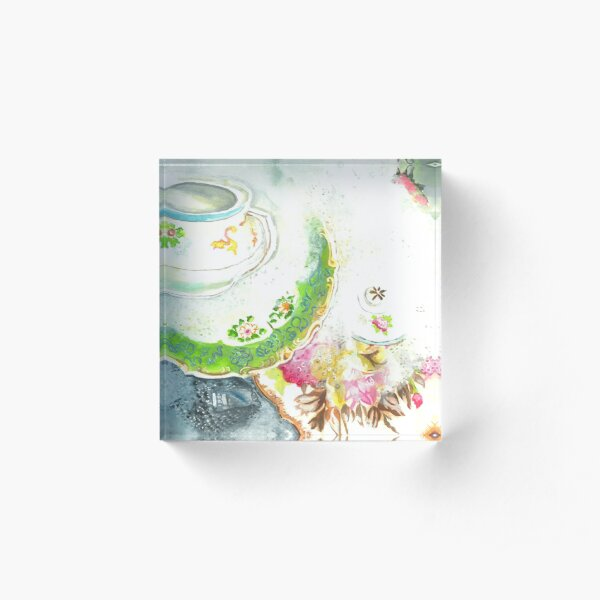 Vintage Soapy Dishes Acrylic Block