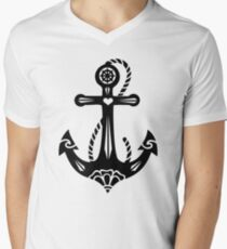Anchor & Sacred Rose, Symbol Hope, Faith & Love T-Shirt