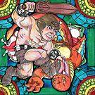 Wonderbread MOTU Man Fighting Snake Warrior by playatech