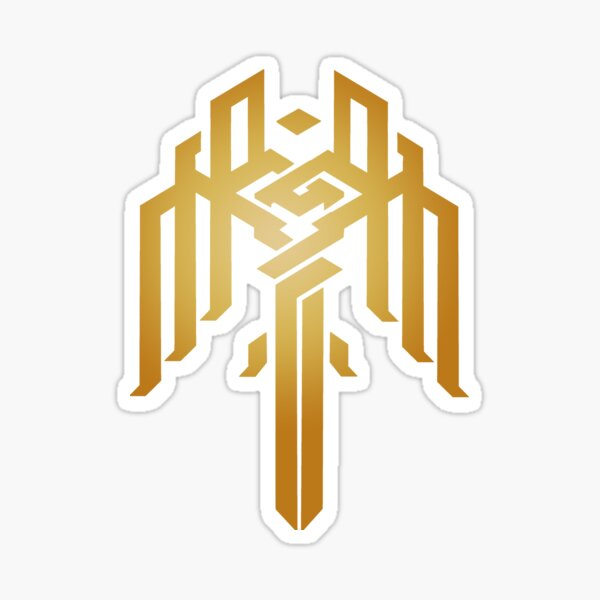 Heraldry of Kirkwall (Gold) Sticker
