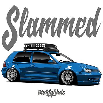 Slammed Golf mk4 (blue) by MotorPrints