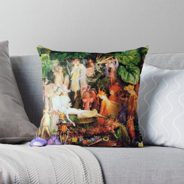 The Fairy's Funeral - John Anster Fitzgerald Throw Pillow