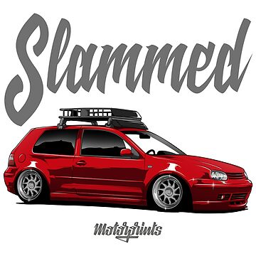 Slammed Golf mk4 (red) by MotorPrints