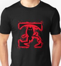 Bat halloween red and black silhouette Unisex T-Shirt