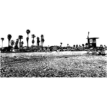 California Beach Town by josemontanez18