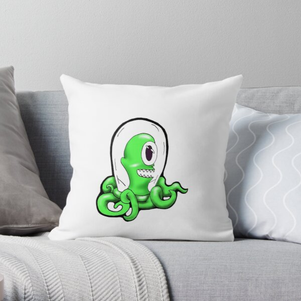 Alien in a Jar Throw Pillow