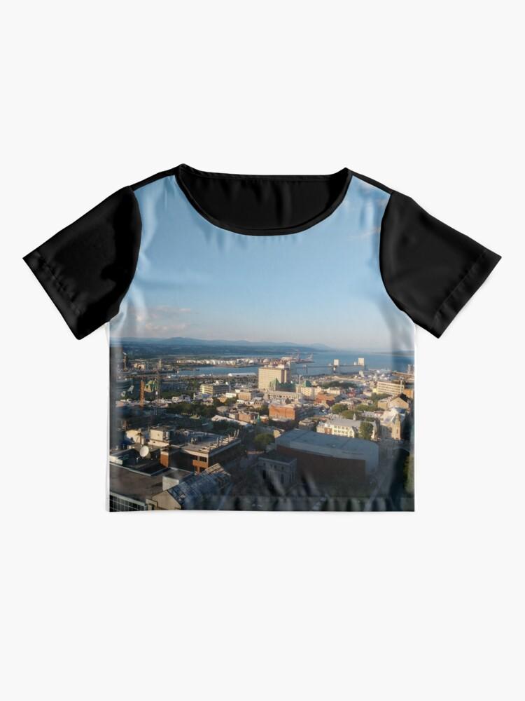 Alternate view of Quebec City, #QuebecCity, #Quebec, #City, #Canada, #buildings, #streets, #places, #views, #nature, #people, #tourists, #pedestrians, #architecture, #flowers Chiffon Top