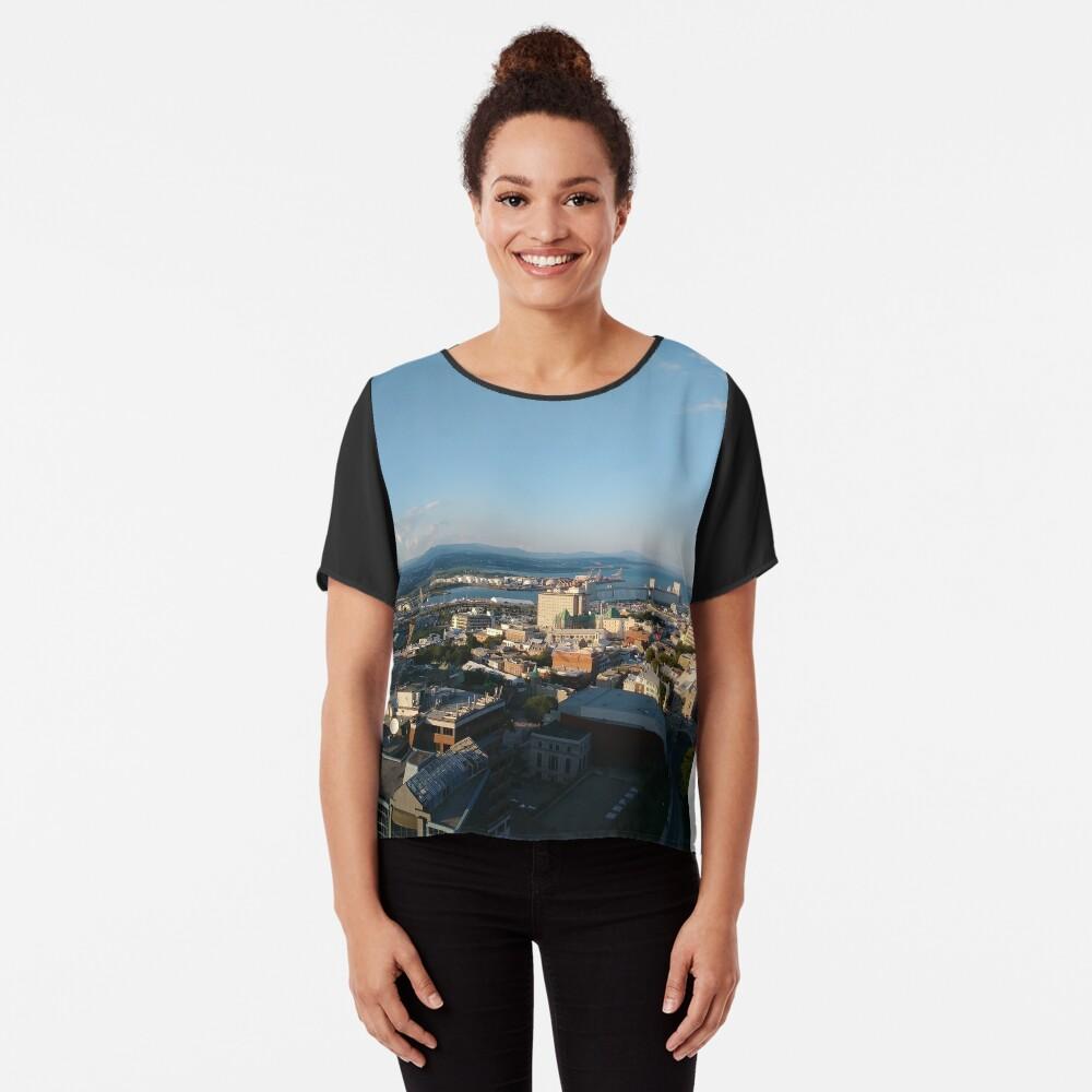 Quebec City, #QuebecCity, #Quebec, #City, #Canada, #buildings, #streets, #places, #views, #nature, #people, #tourists, #pedestrians, #architecture, #flowers Chiffon Top