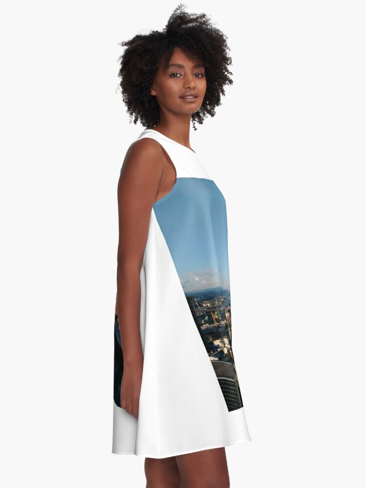 Alternate view of Quebec City, #QuebecCity, #Quebec, #City, #Canada, #buildings, #streets, #places, #views, #nature, #people, #tourists, #pedestrians, #architecture, #flowers A-Line Dress