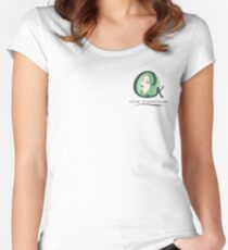 Cristina K Face Graphic Pocket (Green) Women's Fitted Scoop T-Shirt