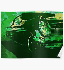 1959 Lincoln Continental Green Pop Poster