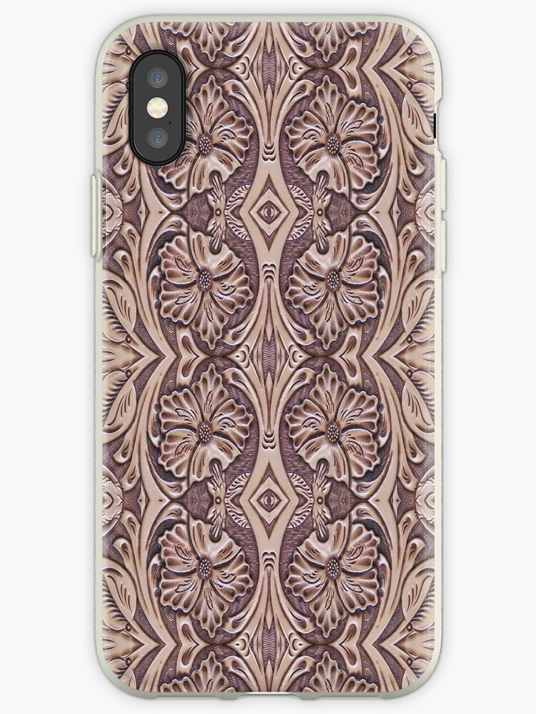 Hand-Tooled Leather Southwest iPhone / Samsung Galaxy Case by Tucoshoppe