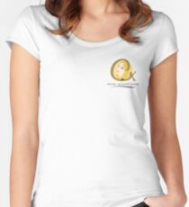 Cristina K Face Graphic Pocket (Yellow) Women's Fitted Scoop T-Shirt