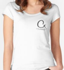Cristina K Logo Pocket Women's Fitted Scoop T-Shirt