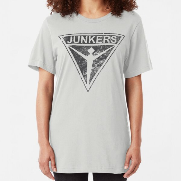 Junkers Stuka Germany WW2 Vintage Logo Slim Fit T-Shirt