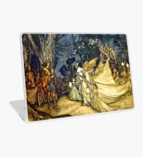Titania and Oberon Meet - Midsummer Night's Dream - Arthur Rackham Laptop Skin