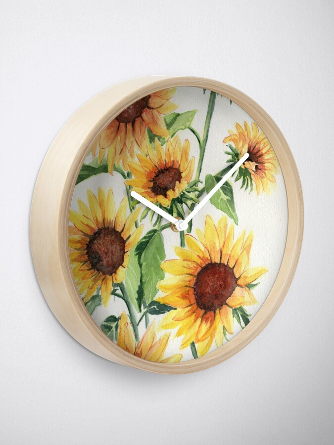 Alternate view of Sunflowers Clock