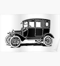 Model T Ford Sedan T Poster