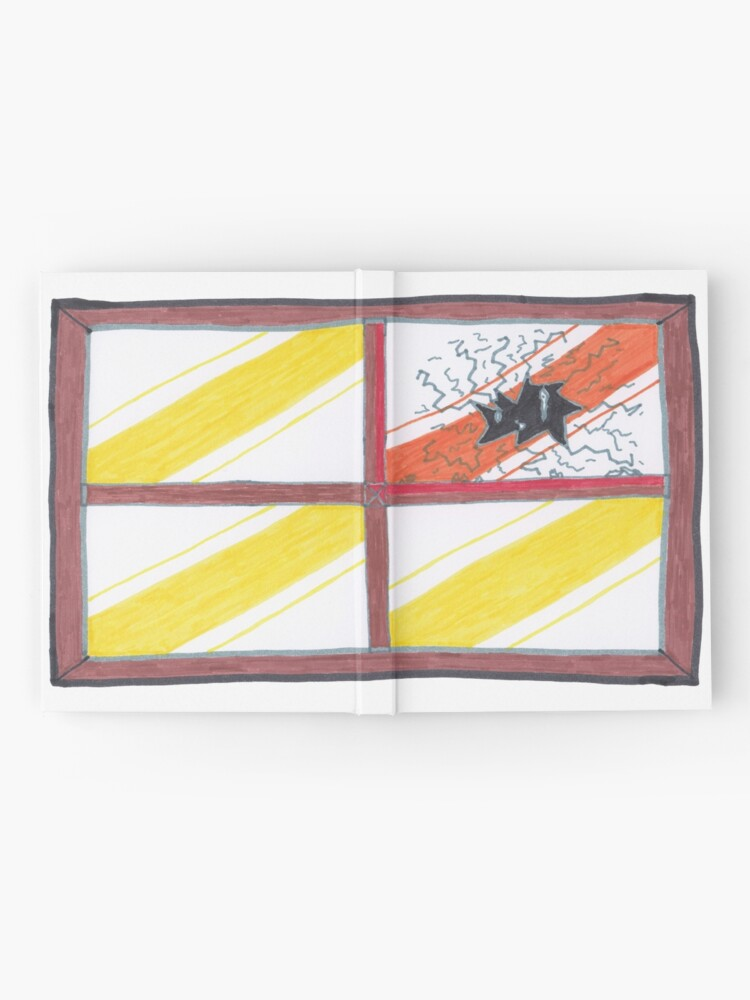 Alternate view of Merch #20 -- Wrecked Window - Pane Pain Hardcover Journal