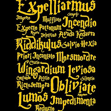 Expecto Patronum T-Shirt Accio Wingardium Leviosa Tshirt Expelliarmus Funny Quote Shirt HP Fan Tee Wizardy And Witchcraft Large Coffee Mug Card Pillow Case Sticker Duvet Gift Ideas Men Women Kids by buenapinta