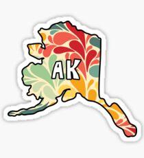 Floral Alaska Sticker