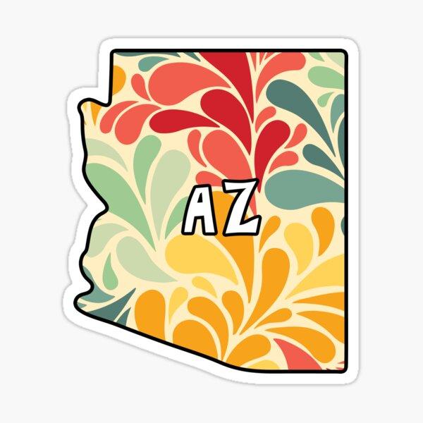 Floral Arizona Sticker