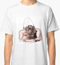 Cute Funny dachshund puppy Classic T-Shirt